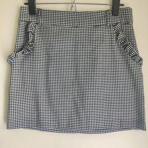 Forever 21 Mini Skirt Black/White